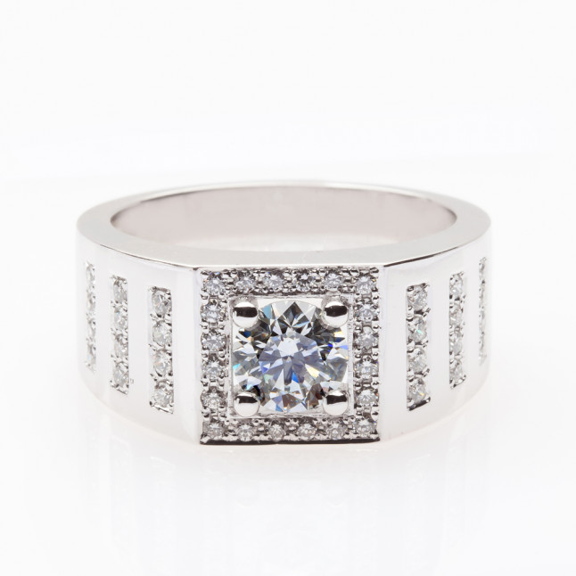 Light Blue Men's Diamond Ring