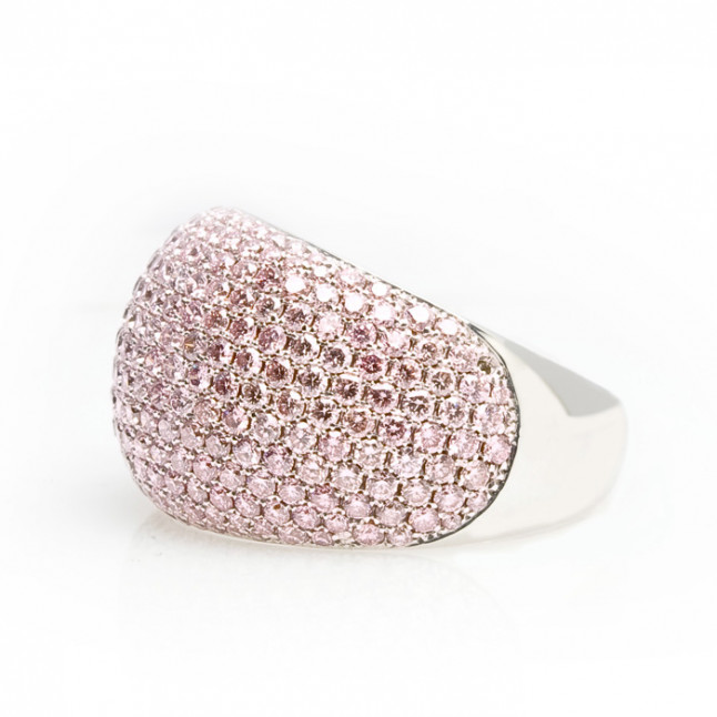 Pink Diamonds Pave-Set Ring