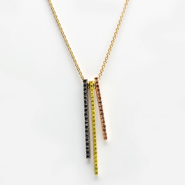 Diamond Bars Necklace