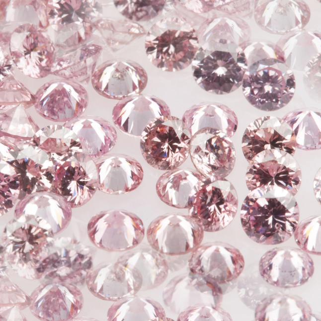 Intense Pink small diamonds melee