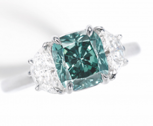 Fancy Deep Bluish Green Diamond.