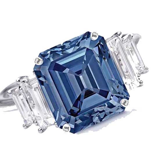 Fancy Vivid Blue. The Ai Diamond. Credit: Christie's ydcdl