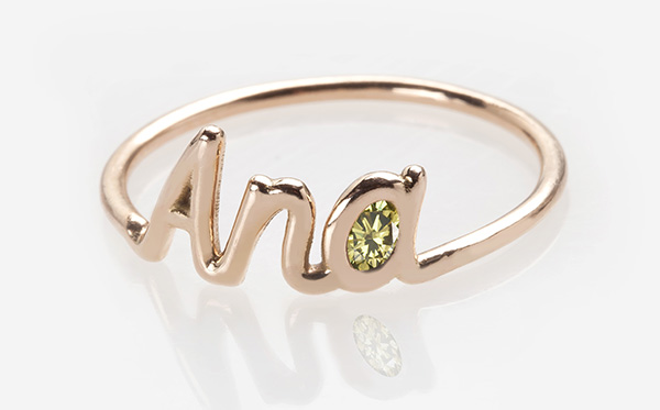 Unique Name Ring - Langerman Diamonds