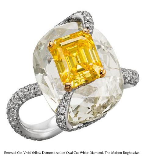 Ring. Yellow and White Diamond. The Maison Boghossian