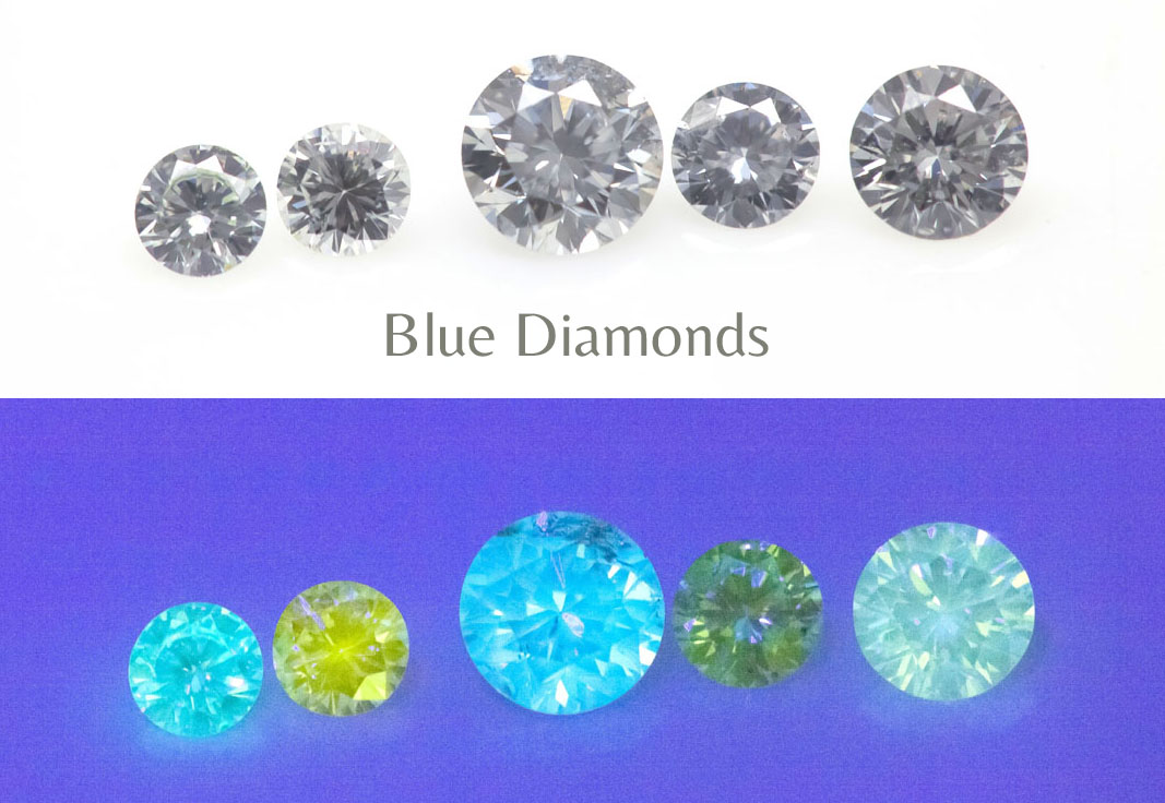 Fluo Natural Blue Diamonds Langerman