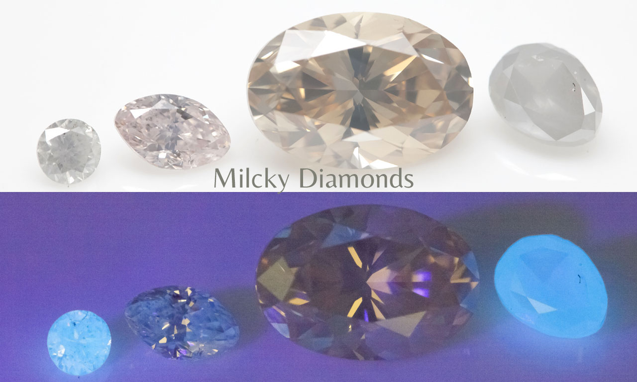 Fluorescence of Natural Milcky Diamonds - Langerman