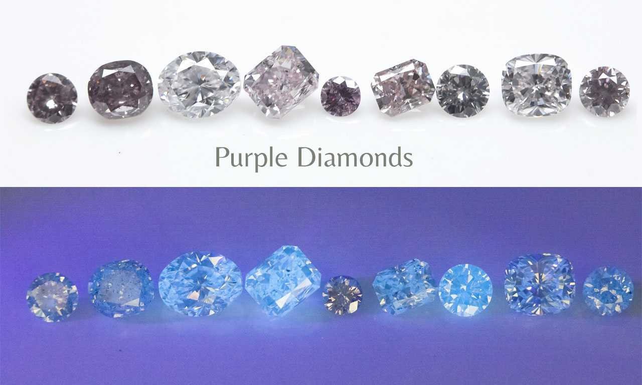 Fluorescence of Natural Purple Diamonds - Langerman