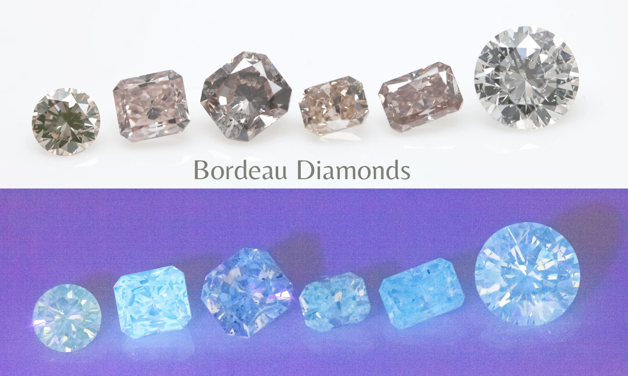 Fluo of Natural Bordeau Diamonds - Langerman