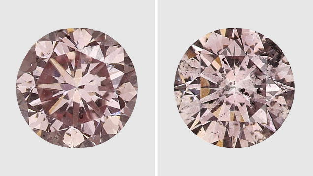 Coated Pink Diamonds GIA
