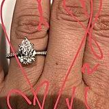 Kaley Cuoco's Pear Shape Engagment Ring