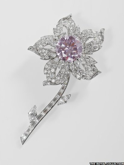 Pink Diamond Brooch