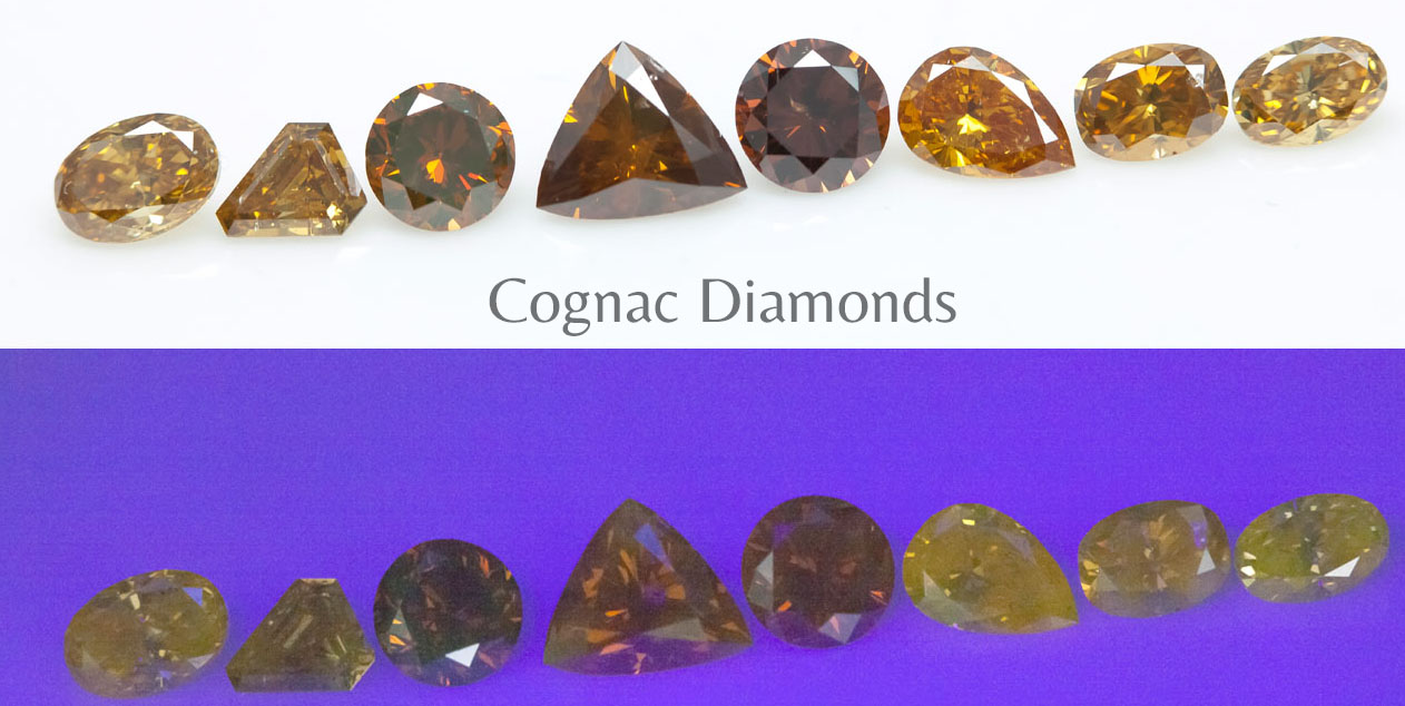 Fluorescence cognac diamonds Langerman