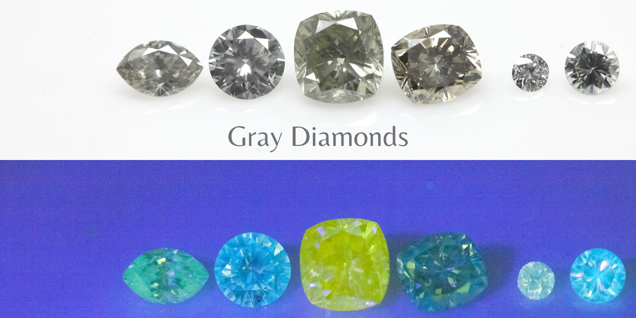 Fluorescence Gray diamonds Langerman