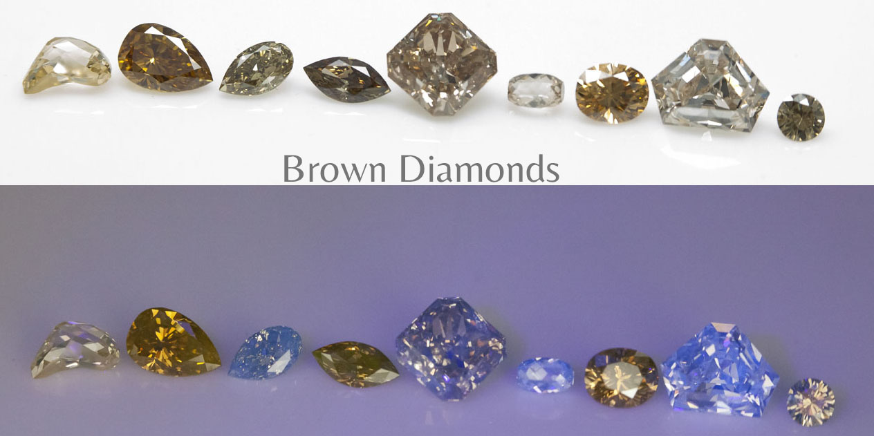 Fluorescence brown diamonds Langerman